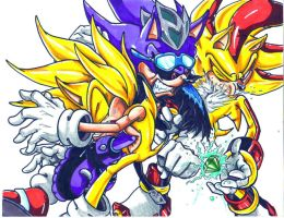 s.scourge vs s.sonic s.shadow by trunks24