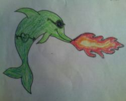Fire Breathing Dolphin by dangstraight