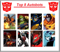 Top 8 Autobots Meme: Finished by Maygirl96