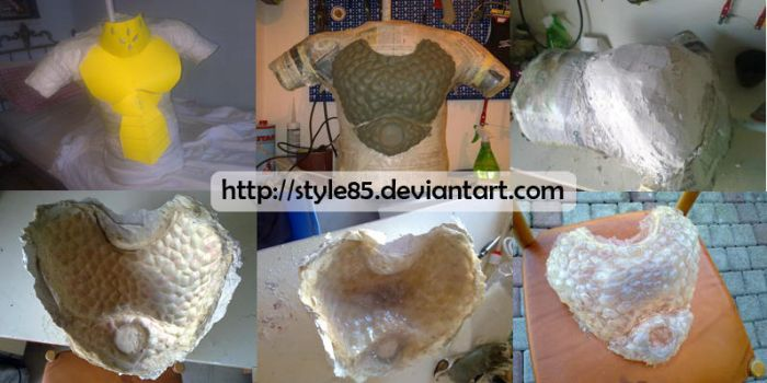 White Fatalis chest - Resin armor tutorial by Style85