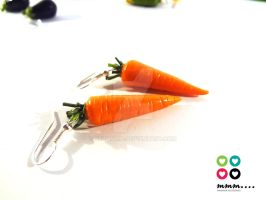 Carrots earrings by Selmmma