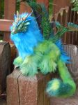 Peacock Dragonfly Art Doll by DLChart