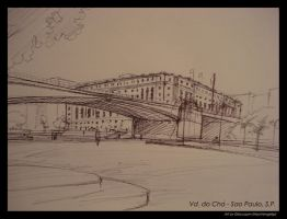 Viaduto do cha Sketch by Nachtengelsp