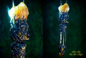Elrond`s tale   Vial necklace by Gwillieth