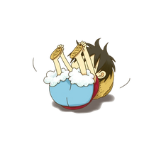Luffy D. Monkey Chibi Render (One Piece) by Feary-Bad-Day