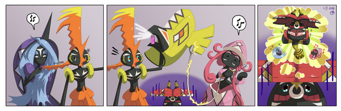 Tapu's problems - #1 Tapu Bulu has no hair by Ari-chaan