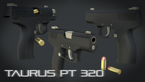 Taurus PT 320 (Material Render) 1080p HD by MatchSignal3D