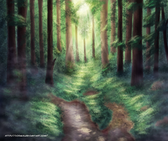 Deep in the woods by Xiraus
