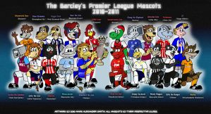 Premier League Mascots 2010 by FreyFox