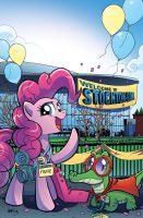 My Little Pony Issue 9 Stockton Con Cover by angieness