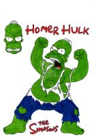 Homer Simpson (Hulk) by CAR-TACO