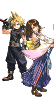 Cloud Strife and Yuna Render by neromaru1995