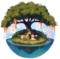 :commission: Our Tiny Private Paradise by kori7hatsumine
