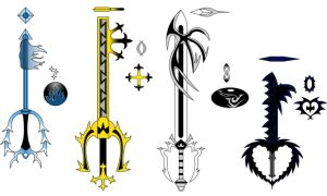 Form Keyblades Set 2 : Colored by RyoDestined