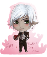 Valentine's Day Fenris chibi by FIavie