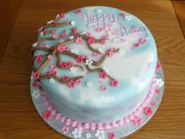 Blossom Birthday Cake by Rebeckington