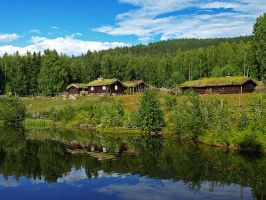 Norway - Rustic Reflections 3 by AgiVega
