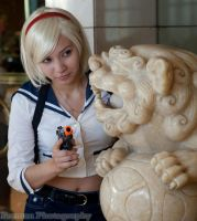 Sherry Birkin Cosplay (Mercenary Battle) by SapphireEagle