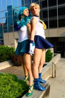 Sailor Uranus and Neptune by tysetsu