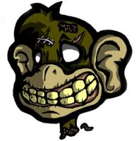 The Undead Monkey Head by grimcinder