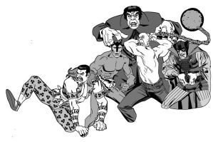 60's Marvel Villains by dusty-abell