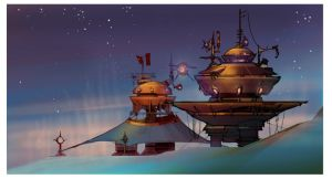 Ratchet and Clank - Iris Pirate Structures by rmohr