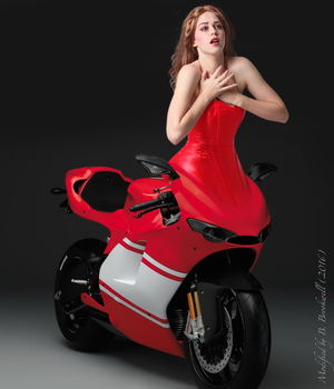 Red Hot Motogirl by Mertail