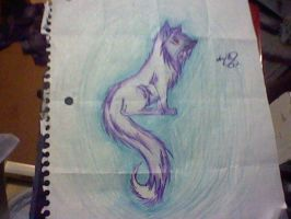 Glowing wolf by annameg1002