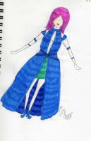 Blue, puffy-ish dress by Nyan-the-Reaper