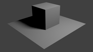 Soft Shadows In Blender Internal by default-cube