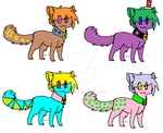 10 point Cat adoptables by The-Pineapple-Panda