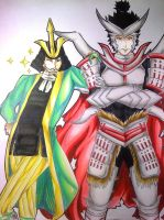 The Sly fox and the Demon king -Sengoku Basara 4 by draulemihawk