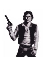 Han Solo Charcoal sketch by chrisgoddard85