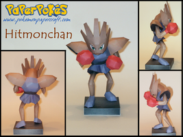 Hitmonchan Papercraft by Skeleman