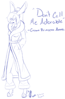 Don't Call Me Adoorable Sketch by Kira-Nightshade