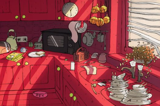 Morning Kitchen by flamingfire123