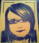Spray paint of meh face by Hami-san