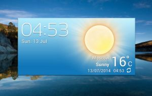 XperiaZ2 Accuweather Widget HD v1 for xwidget by jimking