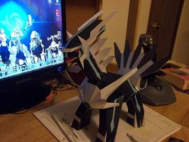 Giant Dialga Papercraft by Aosou-kun