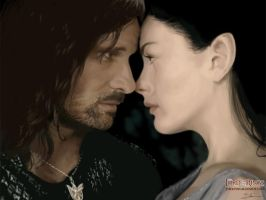 Aragorn and Arwen Painting by JTBlevins
