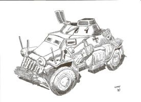 Armored car by megalobo