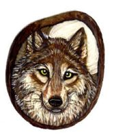 Detailed Wolf on Tagua by Foxfeather248