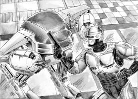 Robocop vs. ED-209 by rodstella