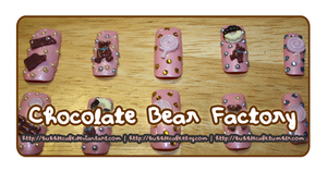 Chocolate Bear Factory (Nail Deco) by BubbleCafe