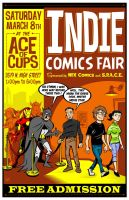 Indie Comics Fair Poster 2014 by FlapJoy