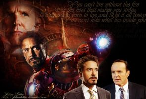 Tony and Coulson by FelisiaLettise