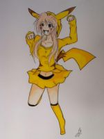 pika girl full color by ScreamingW0lf