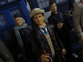 1st, 7th, and 10th Doctors by Police-Box-Traveler