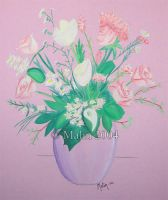 Vase with Flowers by TouchOfAutumn
