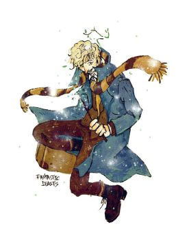 Newt Scamander by dugonism